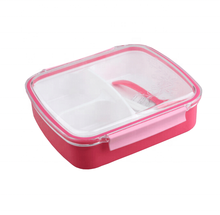 Eco-friendly bento lunch box with 3 compartment for kids