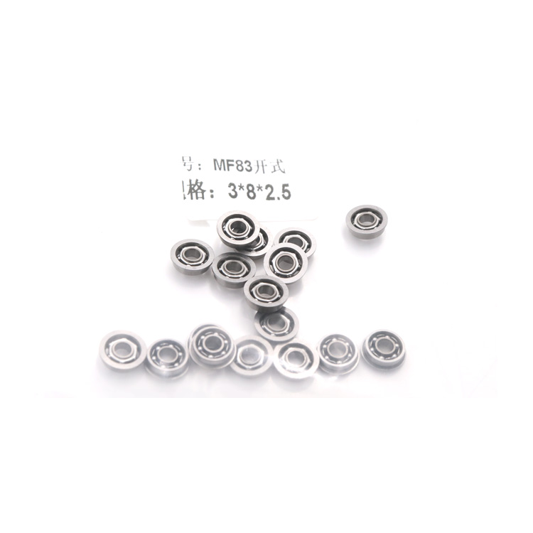 Factory wholesale flanged ball <strong>bearing</strong> open type MF83 MF83zz <strong>bearing</strong> with size 3*8*2.5mm for air rifle