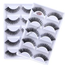 Hotsale 5 pairs synthetic silk eyelashes false eyelashes faux mink h02