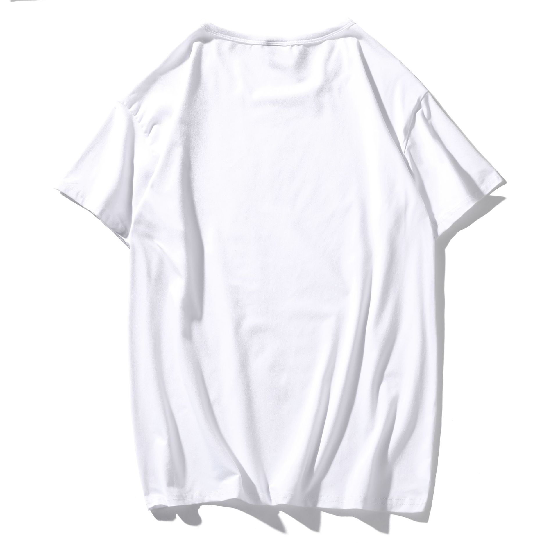 Custom LOGO modal soft high quality short sleeve round neck men's   blank white t shirts
