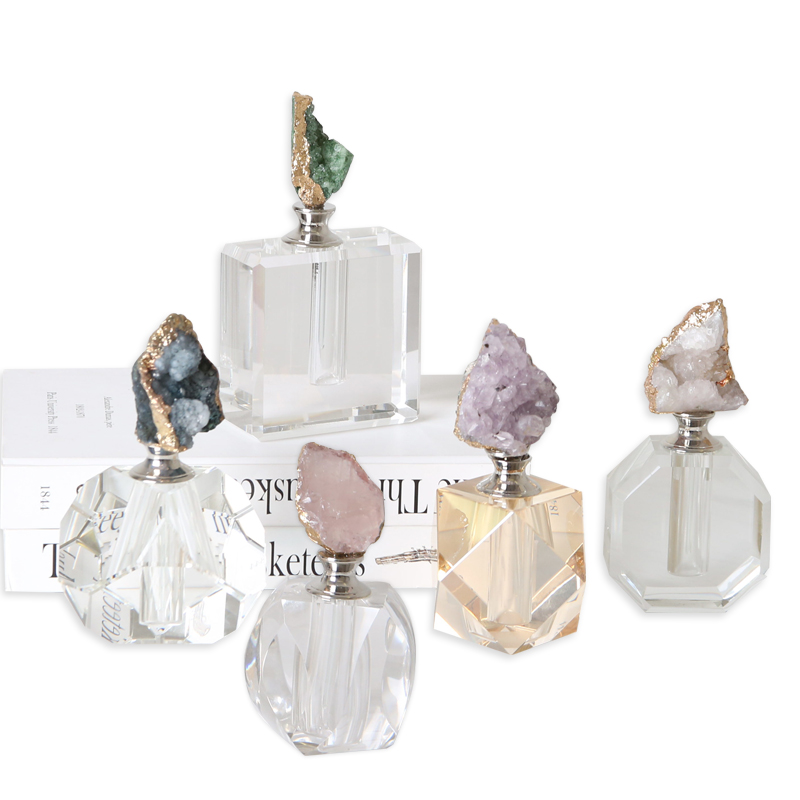 Most popular modern home interior agate perfume bottle <strong>decoration</strong> pieces