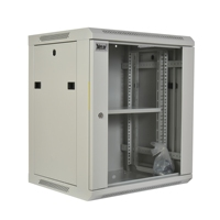 12U Network Wall Mount Cabinet Enclosure with Glass Door