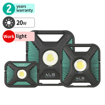 ALS rechargeable work flood light 2000lm led portable Dustproof and waterproof IP67 Spot Light luminous Adjust brightness OEM