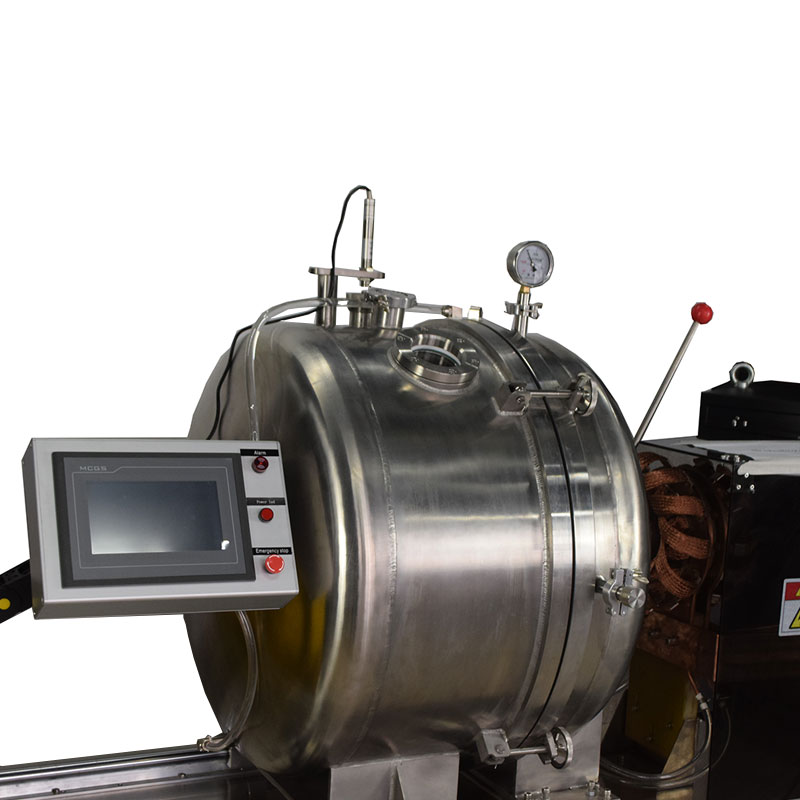 Vacuum induction furnace with stainless steel water-cooled chamber for melting steel up to 3Kg