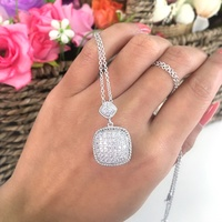 KENTURAY New Design Diamond Studded 925 Sterling Silver Necklace