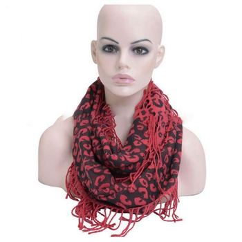 good quality fashion custom red infinity scarf wholesale