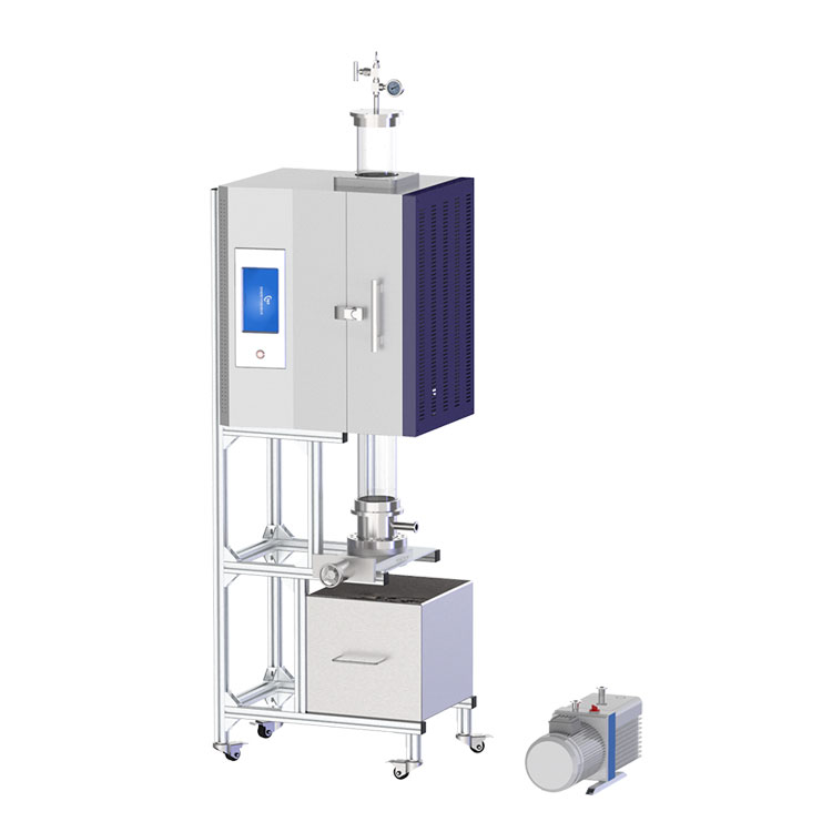 Vertical openable vacuum tube quenching furnace for sample quenching