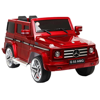 Mercedes-benz licensed red plastic electric car toys for kids