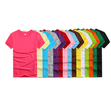 Wholesale 60% <strong>polyester</strong> 40%cotton o-neck 160g custom tshirts blank t shirts men