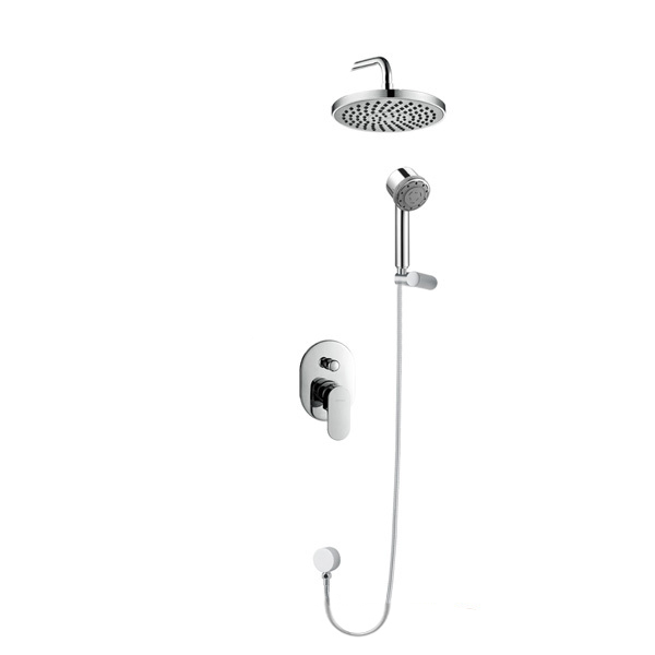 EMPOLO bath and shower kits chrome solid brass ceramic cartridge bathroom concealed shower mixer