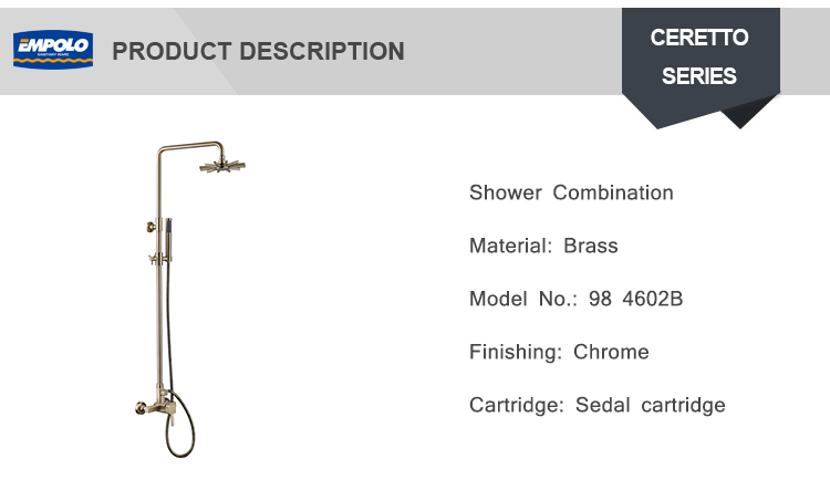 Bathroom Accessories  Brushed Gold Solid Brass Rainfall Full Shower Set Faucet Wall Mounted Shower Arm Mixer Water Set