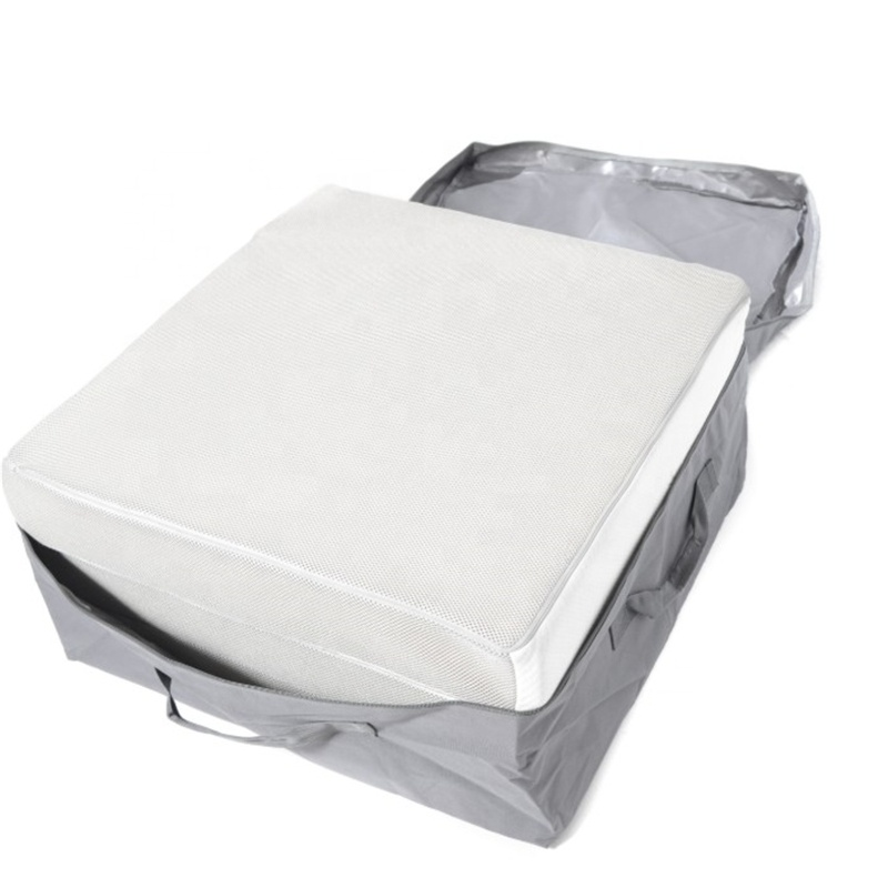 Tri Fold Memory Foam Mattress 4 Folding Blue Twin Inch for Sofa Bed - Jozy Mattress   Jozy.net