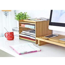 stock <strong>bamboo</strong> File Organizer with Adjustable Dividers Desktop File Organizer with <strong>pen</strong> <strong>holder</strong>