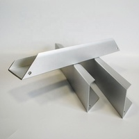 Custom Decorative Anodized Aluminum Edge Threshold Profile For Mdf Board , Stretch Ceilings Aluminium Profile Frames