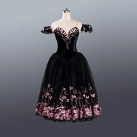 Beautiful Black romantic long dress for women ballet