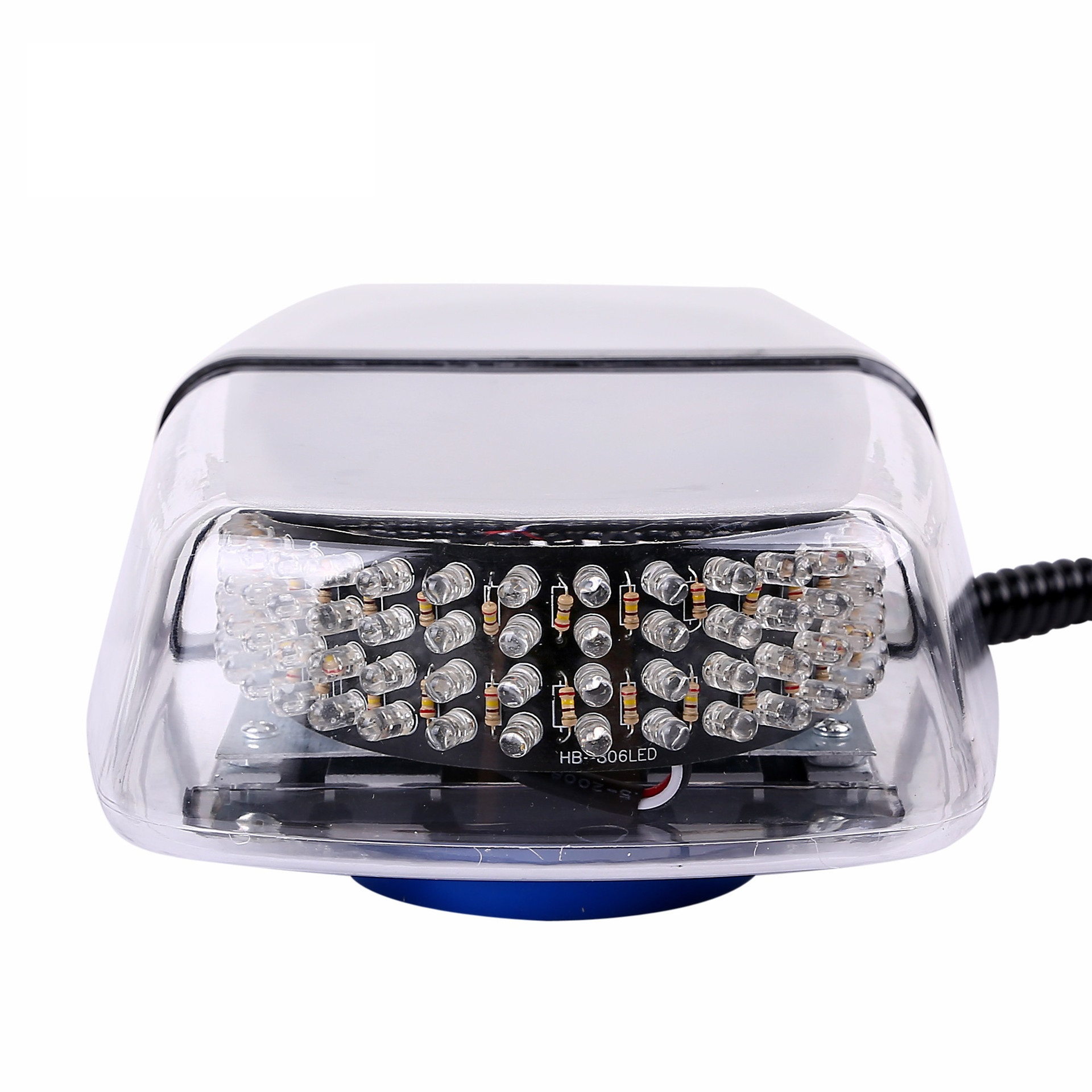 240 LED Strobe Lights Amber Roof Top Emergency Beacon Warning Mini Light Bar With Magnetic Base for 12V-24V Emergency Vehicle