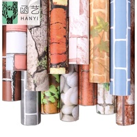 Factory supply cheap stone wall paper rolls 3d brick pvc self adhesive wallpaper