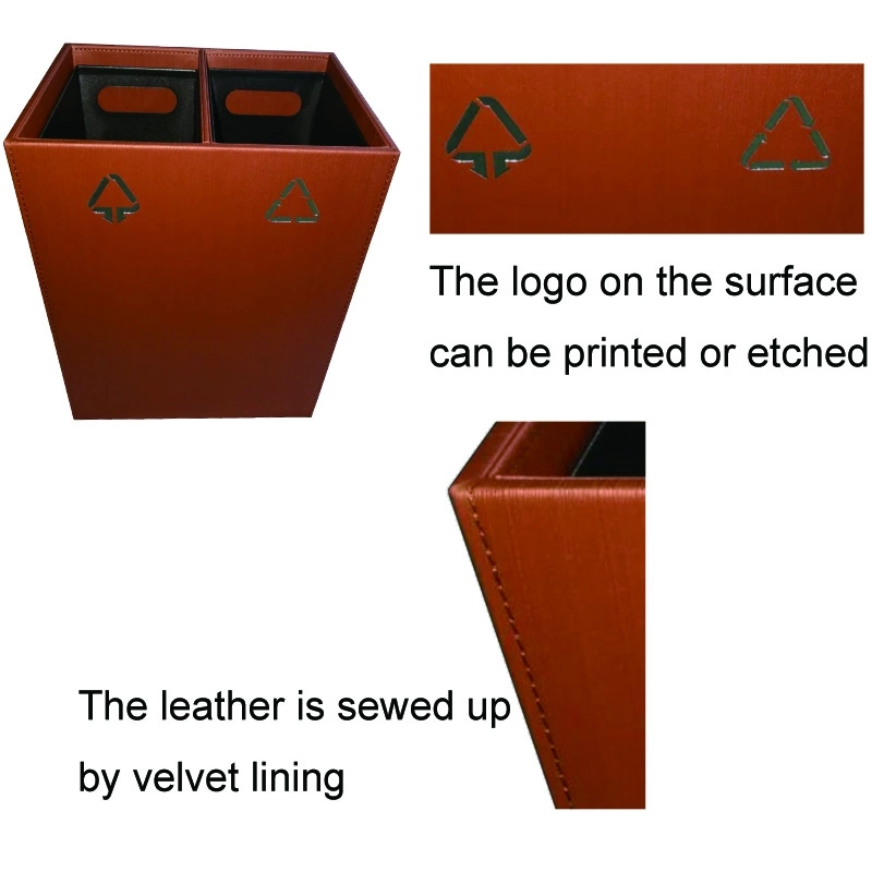 Decorative Metal Framed Trash Can for Hotel Use