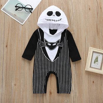 Halloween Stripe Printed Long Frock Baby Girl Frock Rompers Infant Kids Clothes Boys Autumn Rompers Jumpsuits
