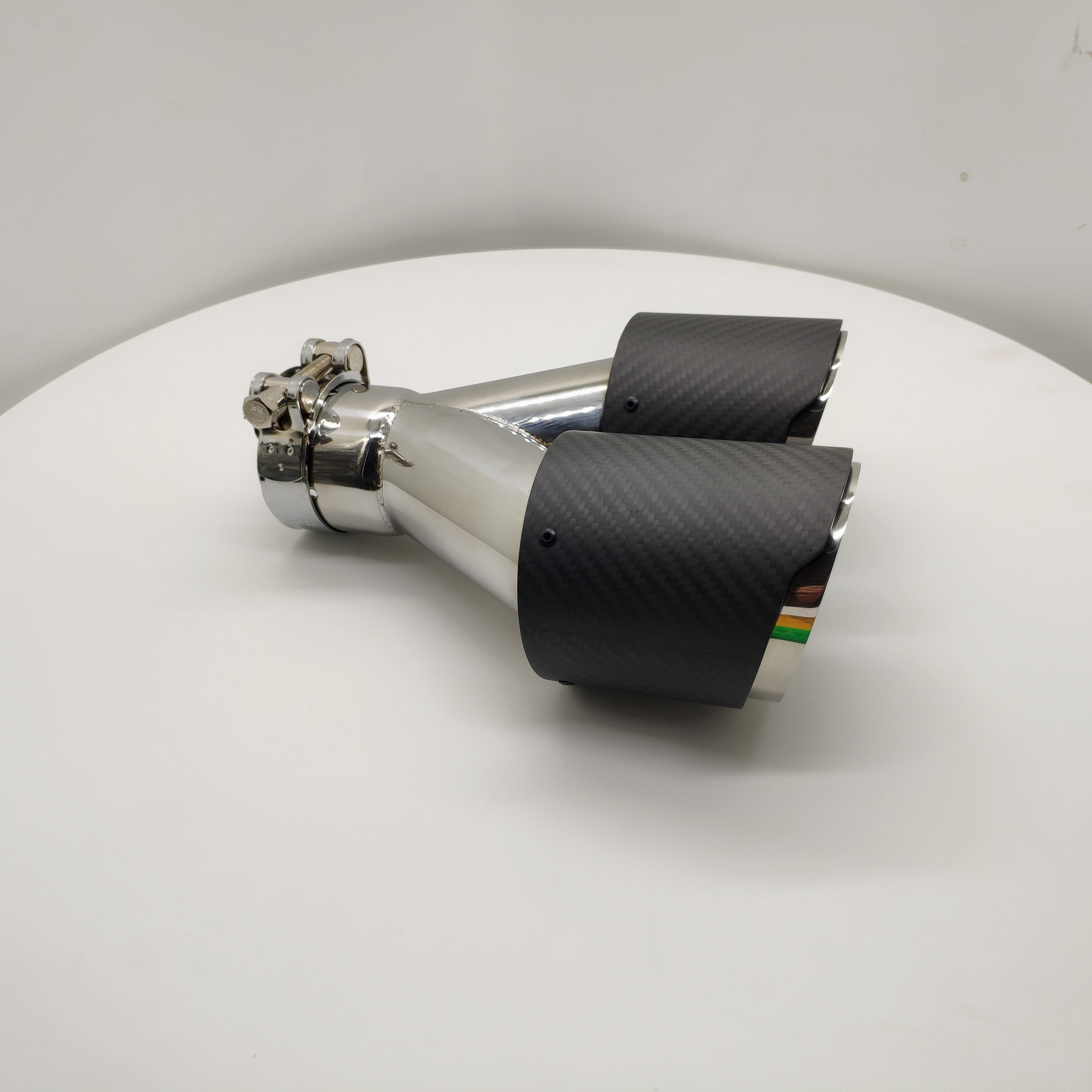 Hot Sell Dual Carbon Fiber Exhaust tip Carbon Muffler Pipe