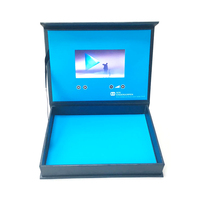custom Luxury 2.4,4.3,5,7,10.1 inch hd ips lcd video gift box for souvenir,wedding,Electronic business gift packaging