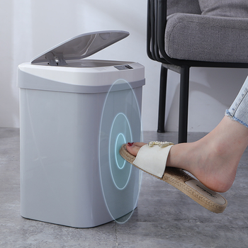 Ebay de China15L FDA ABS trash cans smart touchless recycle electronic sensor trash bin automatic