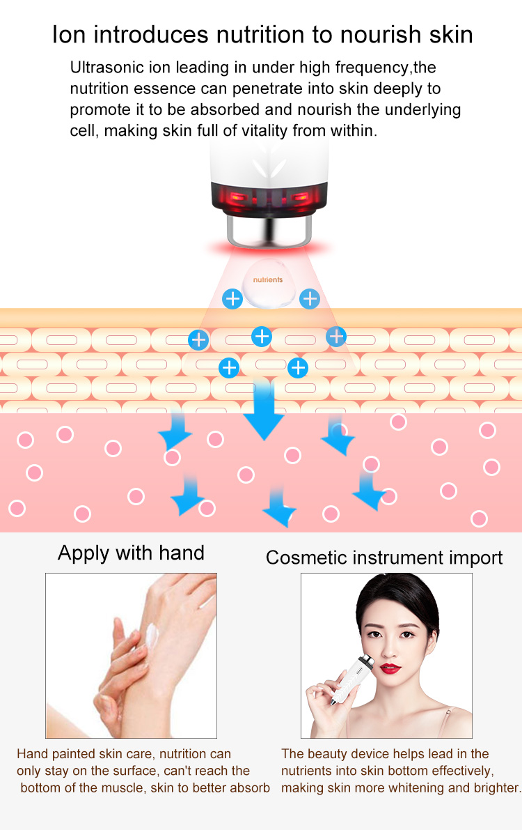 beauty tools 2020 ion ultrasonic importer magnetic face serum applicator