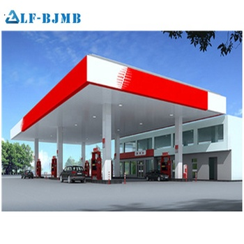 Best price and good service steel structure gas station designed by XUZHOU LF