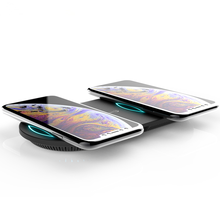 MIQ 2019 3 in 1 Qi Wireless Charger Pad Support 5W 7.5W 10W Fast Charging for iPhone Two <strong>Mobile</strong> <strong>Phones</strong> Charging Simultaneous