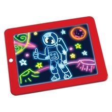 Glow Board-Drawing Magic Board-Writing Maker-Learning,Create,Art Tablet-Light Up Tracing Pad for <strong>Kids</strong>,red