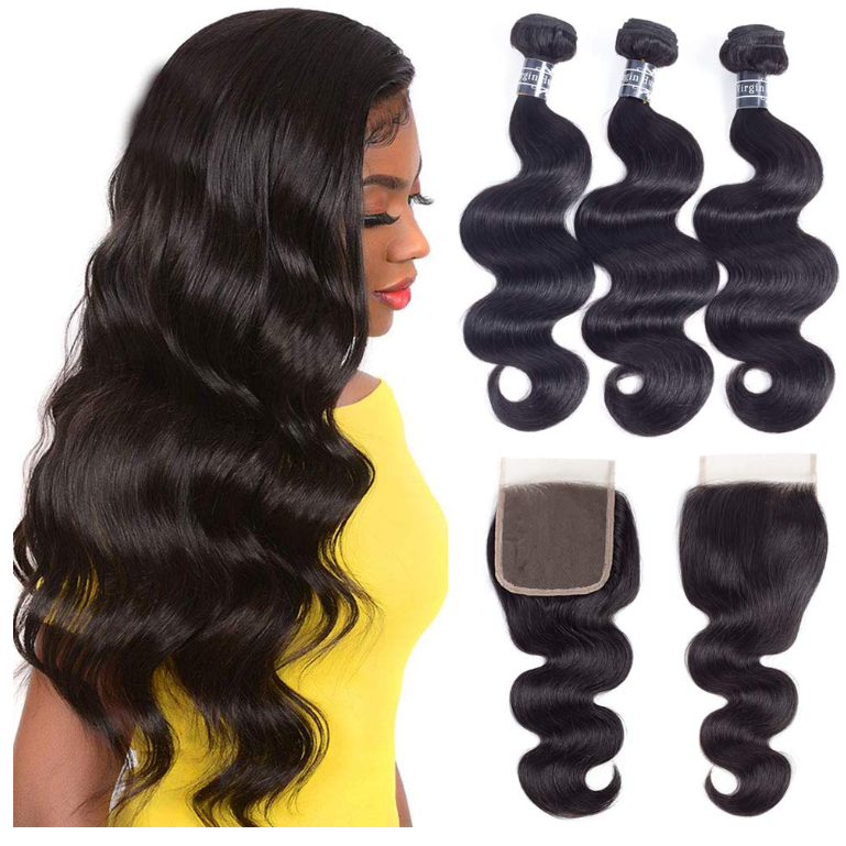 Wholesale best selling free sample unprocessed 100% virgin <strong>human</strong> 26 inch body wave hair extension 3 bundles with a closure
