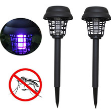 UV Outdoor Solar mosquito killer lamp Garden Mosquito Pest Bug zapper <strong>Insect</strong> Repellents
