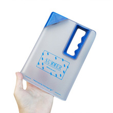 Travel sports Clear plastic notebook square <strong>flat</strong> water bottle