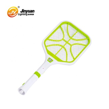 durable rechargeable fly mosquito racket electric swatter with torch