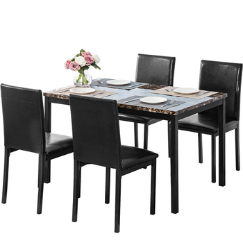Modern Restaurant furniture italian marble top 4 seater dining table set for home