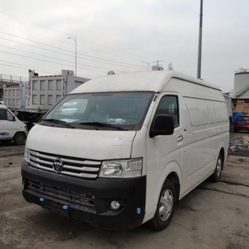 Used cheap price mini cargo Van foton brand Commins brand diesel engine mini vehicle city cold chain fast transport car