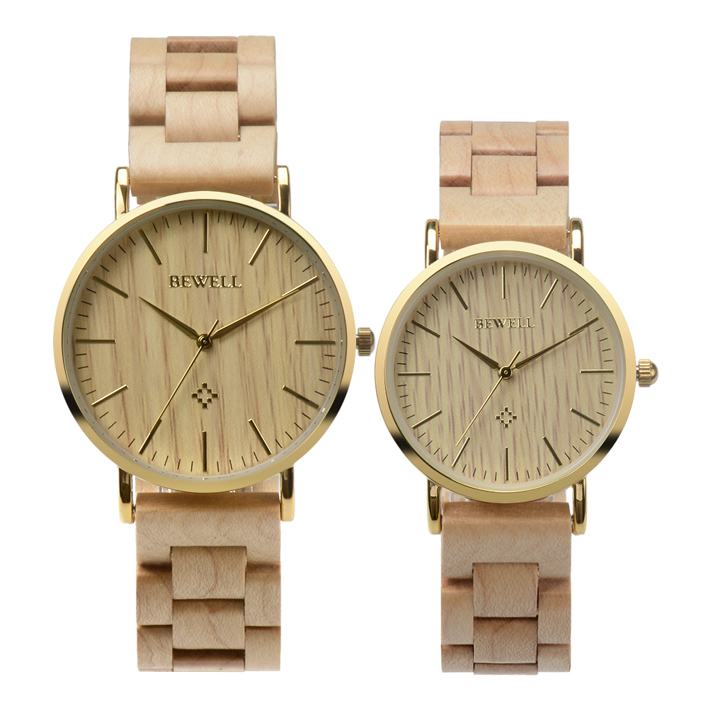 Alibaba online shopping japan movement water resistant 3ATM couple wooden watches