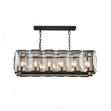Ins style square glass <strong>crystal</strong> with E14 bulb for dinning room or living room decoration