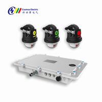 Latest intelligent overhead line fault detection fault indicator fault location monitoring system for power distribution line