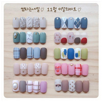 Short Oval Artificial fake Nails Hand Practice for girls with 10 Sizes