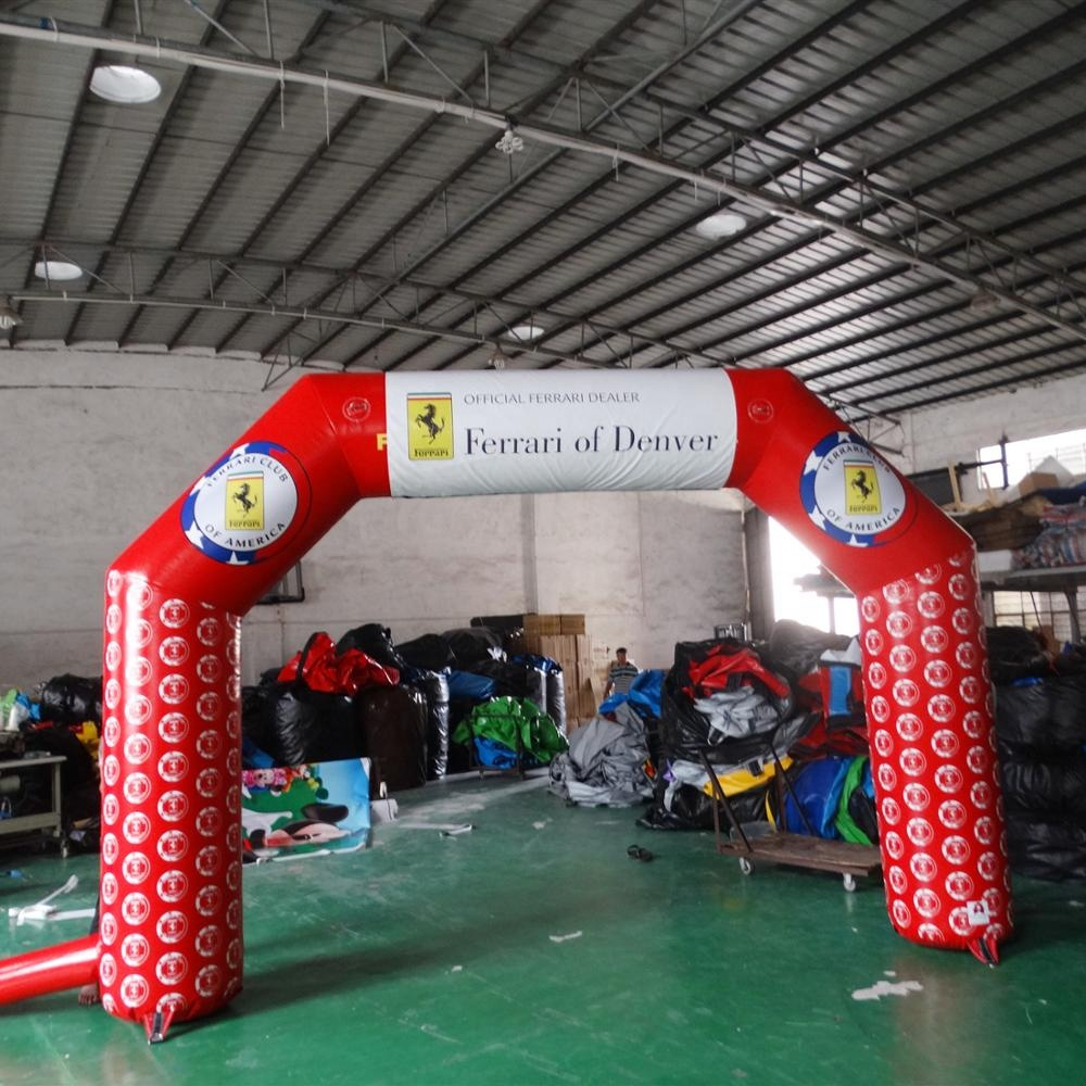 High Quality Red <strong>Inflatable</strong> Entrance Arch Advertising <strong>Inflatables</strong>