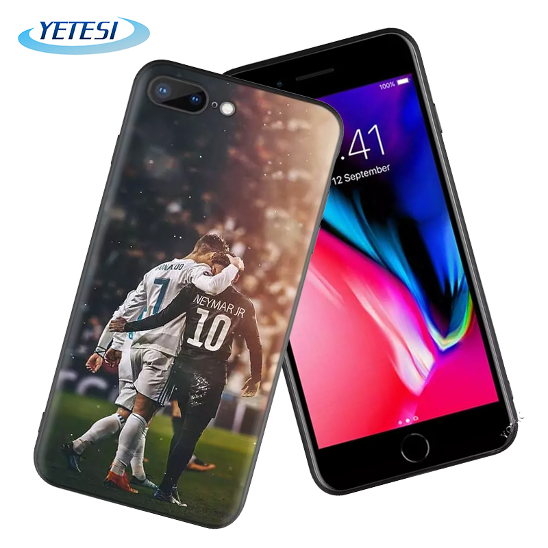 Back case for iPhone XR liquid silicon Phone Case for iPhone X cover CR7 Cristiano Ronaldo