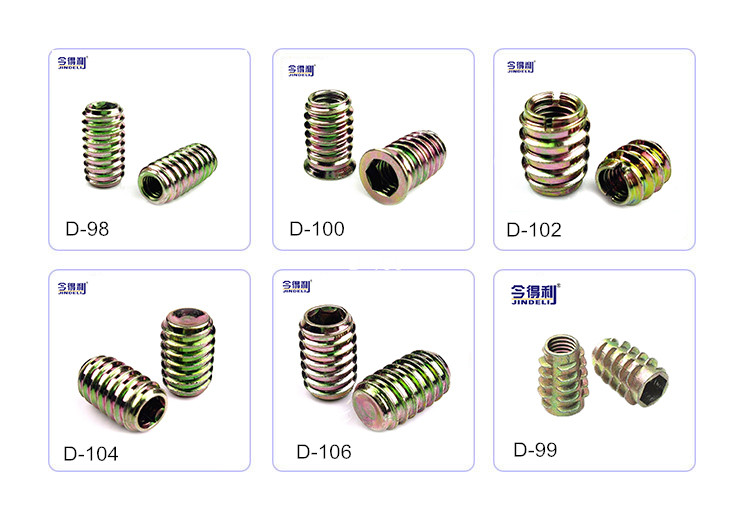 M8 Furniture Screw Bookcase Hex Socket Screw and Bolts Headless Fastener Hollow Screw