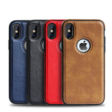For iPhone X XS Case Ultra Slim Premium Leather Phone Cases Cell Phone Cover