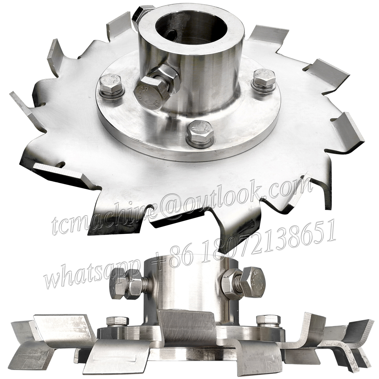 high shear disperser mixer cowles disc impeller for latex paste (cowl disc only)