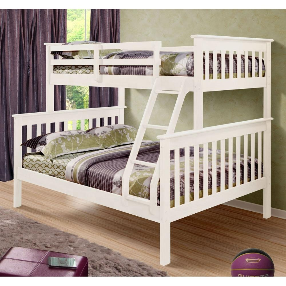 No. 1532 Modern Design Popular Solid Wood Triple pine bunk <strong>bed</strong>