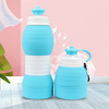 600ml High Quality Water Bottle Silicone Water Bottle 600ml BPA Free Outdoor Sports Portable Water Print Logo Collapsible Bottle