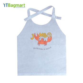 Non Woven Restaurant Bib Adult Crab Lobster Seafood Disposable Lobster Bibs