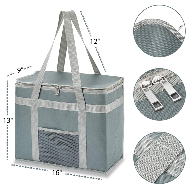 Custom Reusable Insulated Grocery Shopping Bags