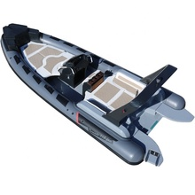 New Model 23.3ft Luxury RIB Hypalon Inflatable Fishing Rowing <strong>Boat</strong> with 200HP Engine for Sale Italy